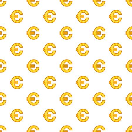 Euro currency symbol pattern. Cartoon illustration of euro currency symbol pattern for web