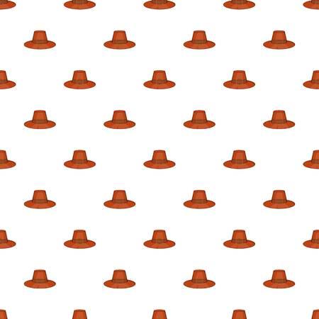 Brown pilgrim hat pattern. Cartoon illustration of brown pilgrim hat pattern for web Stock Photo