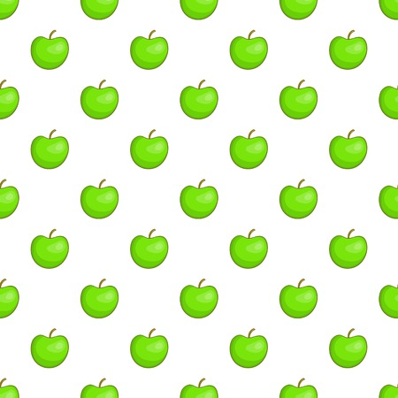 Green apple pattern. Cartoon illustration of green apple pattern for web