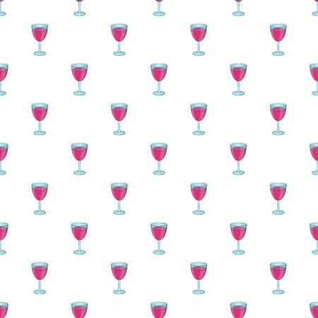 Glass of wine pattern. Cartoon illustration of glass of wine pattern for web Stock Photo