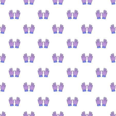 Winter gloves pattern. Cartoon illustration of winter gloves pattern for web