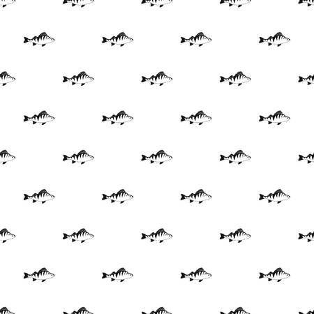 Perch fish pattern. Simple illustration of perch fish pattern for web