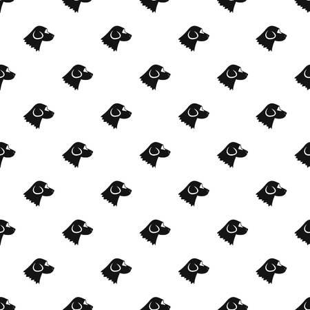 Beagle dog pattern, simple style