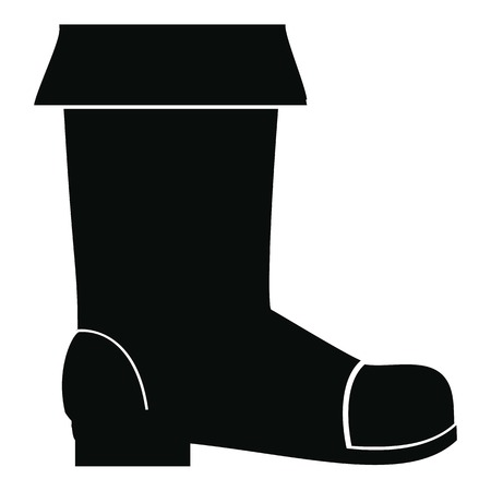 Rubber boot icon, simple style Stock Photo