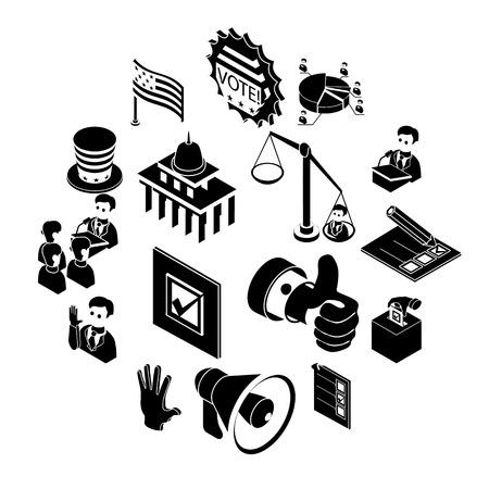 Election voting icons set. Simple illustration of 16 election voting icons set icons for web Reklamní fotografie