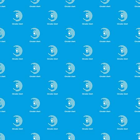 Circular chart pattern seamless blue repeat for any use