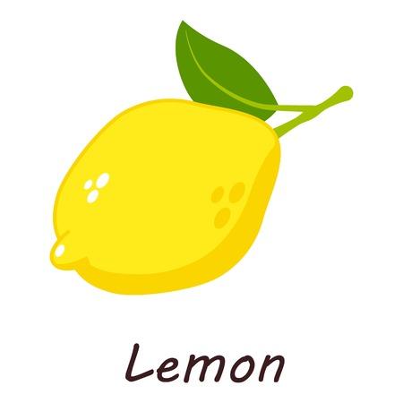 Lemon icon. Isometric illustration of lemon icon for web