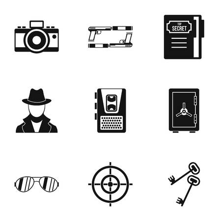 Scout icons set, simple style