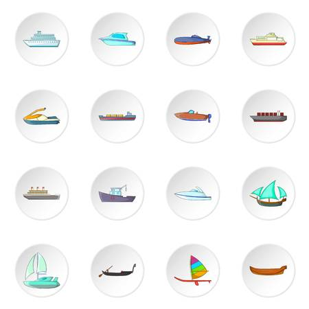 Ship and boat icons set Stockfoto - 107759965