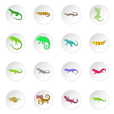Lizard icons set