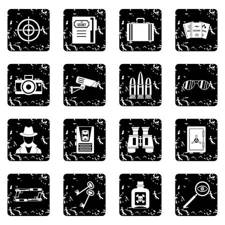 Spy tools icons set