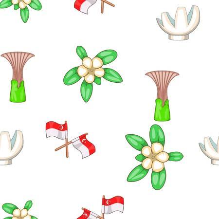 Singapore pattern, cartoon style Stock Photo