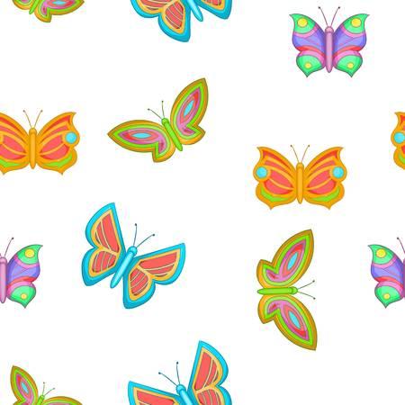 Butterfly pattern, cartoon style Stock Photo