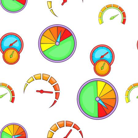 Types of speedometers pattern, cartoon style