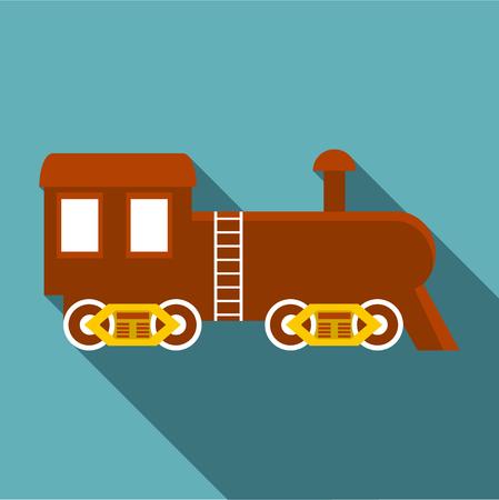 Locomotive icon, flat style Фото со стока