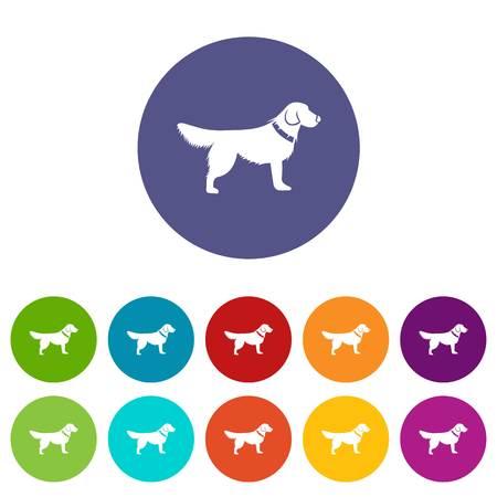 Dog set icons Stock Photo