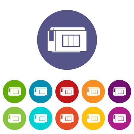 Inkjet printer cartridge set icons