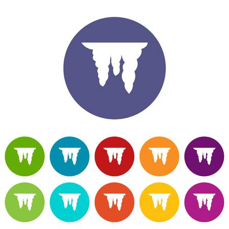 Icicles set icons