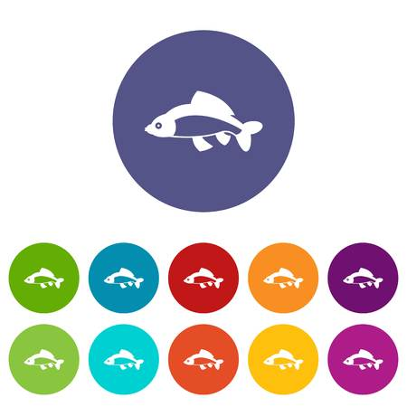 Fish set icons