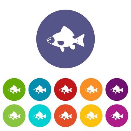 Fish set icons