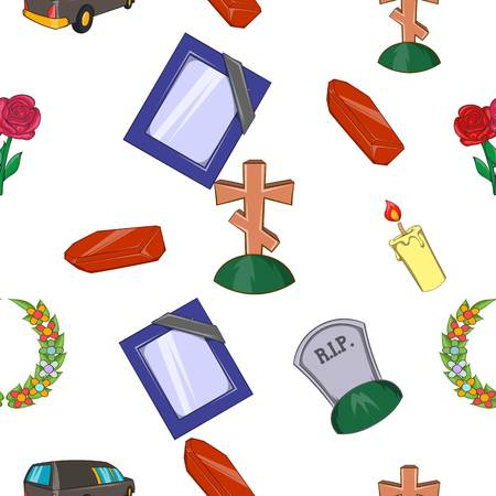 Burial pattern. Cartoon illustration of burial pattern for web
