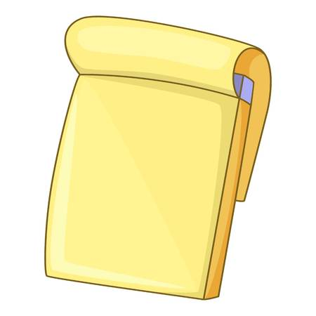 Notebook icon, cartoon style Фото со стока
