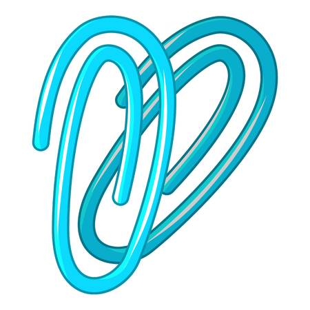 Paperclip icon, cartoon style