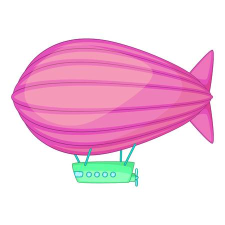 Flying airship icon. Cartoon illustration of flying airship icon for web