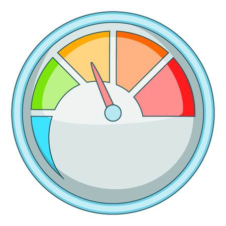 Indicator icon, cartoon style