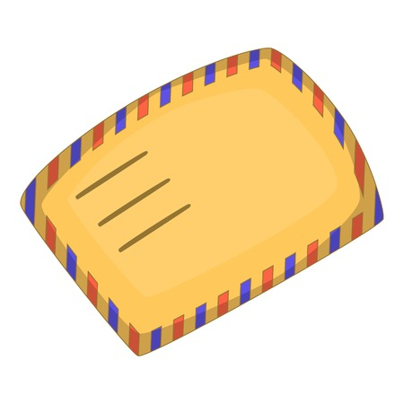 Envelope icon, cartoon style