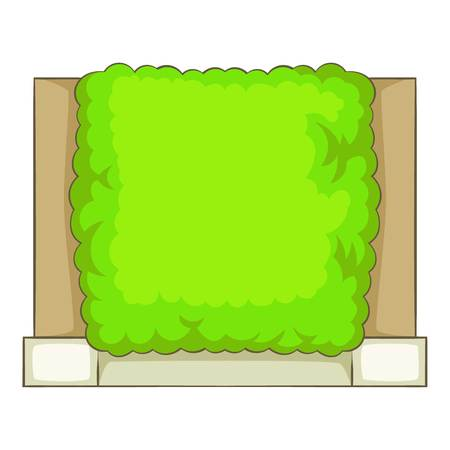 Green fence icon, cartoon style Stock Photo