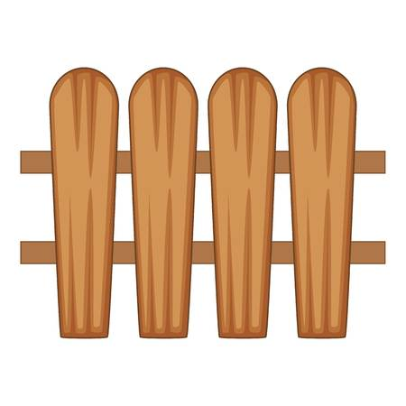 fence made of boards icon, cartoon style Stockfoto