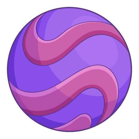 Purple abstract planet icon, cartoon style Archivio Fotografico