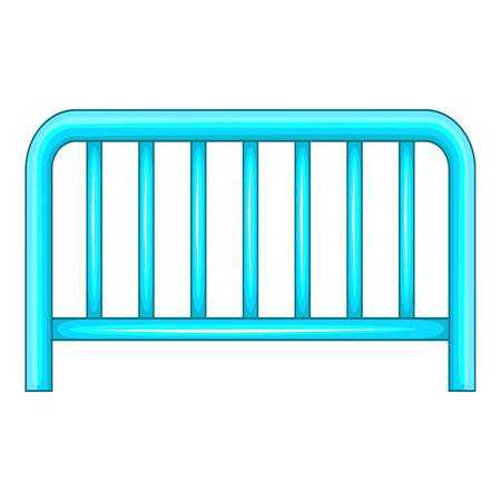 Metal fence icon, cartoon style