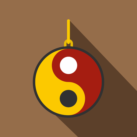 Ying yang symbol of harmony and balance icon