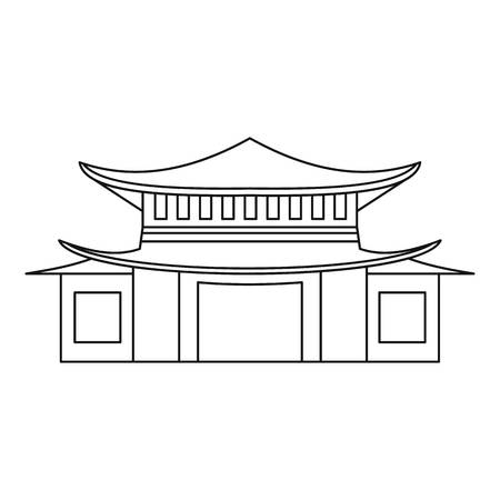 Pagoda icon, outline style
