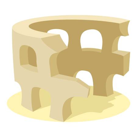Coliseum icon, cartoon style