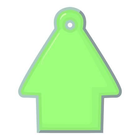 House tag icon, cartoon style