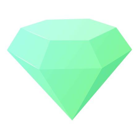 Diamond icon, cartoon style