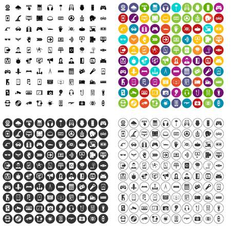 100 gadget icons set in 4 variant for any web design isolated on white