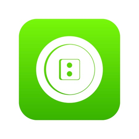 Dress round button icon digital green for any design isolated on white illustration Фото со стока