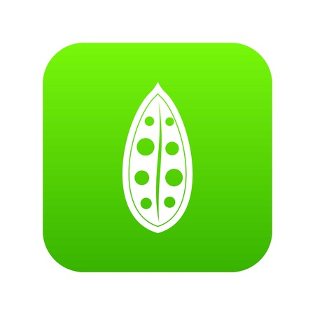 Cocoa pod icon digital green for any design isolated on white illustration
