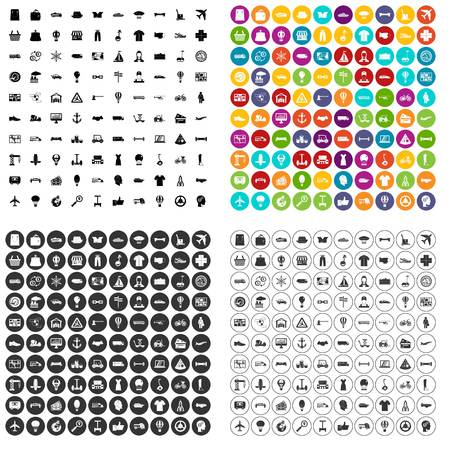 100 logistics icons set in 4 variant for any web design isolated on white