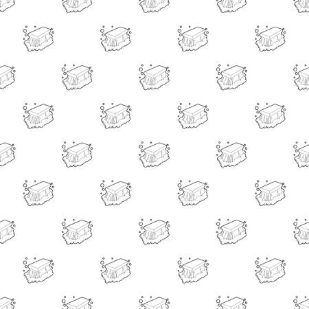 Wet cleaning pattern seamless repeating for any web design Stock Photo
