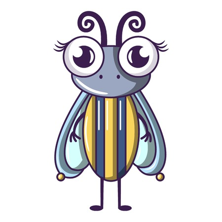 Biology fly icon, cartoon style