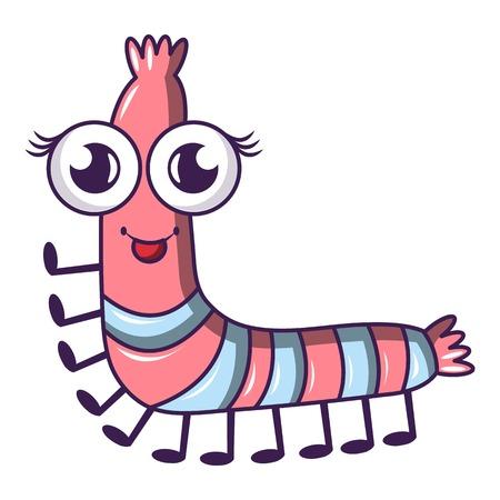 Caterpillar icon, cartoon style