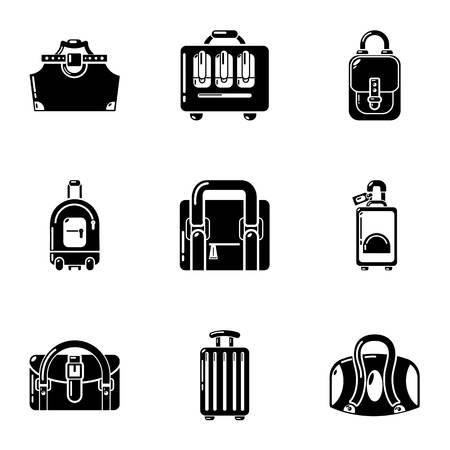 Ensemble d'icônes Haversack. Ensemble simple de 9 icônes vectorielles haversack pour le web isolé sur fond blanc
