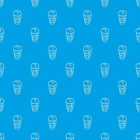 Sundae in glass pattern vector seamless blue repeat for any use Illustration