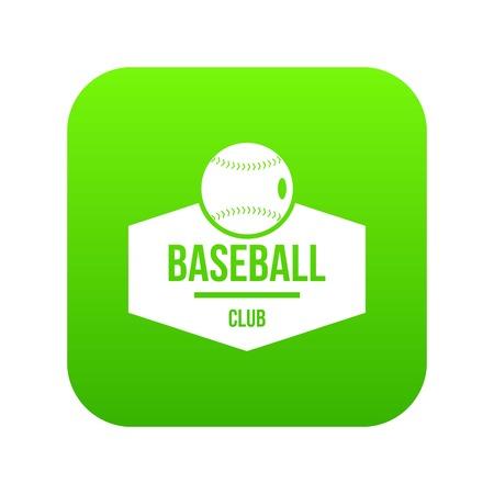 Baseball icon green vector