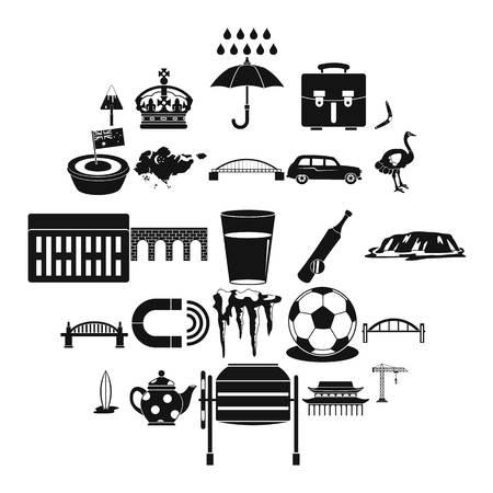 Ensemble d'icônes de relocalisation. Ensemble simple de 25 icônes vectorielles de déménagement pour le web isolé sur fond blanc